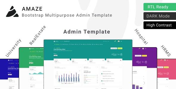 Amaze - Multipurpose Admin Template ui kit - Admin Templates Site Templates