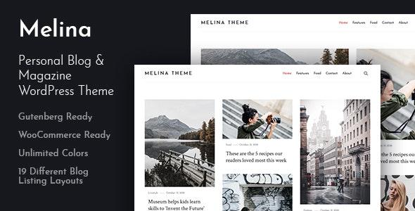 Melina - Personal Blog & Magazine WordPress Theme - Personal Blog / Magazine