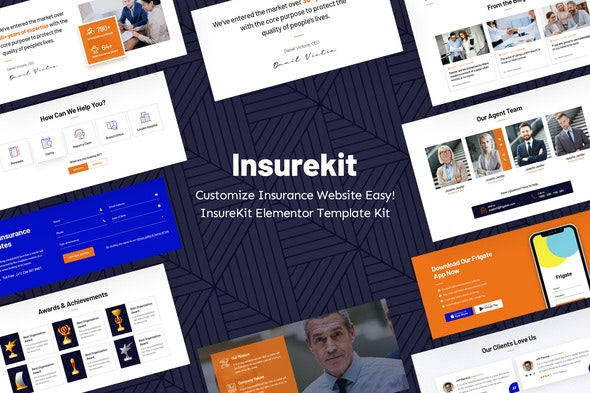 InsureKit - Insurance Template Kits - Business & Services Elementor