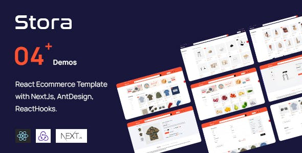 Stora - React Ecommerce Template with NextJs, AntDesign, ReactHooks