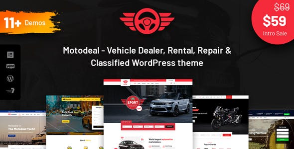 Motodeal - Car Dealer & Classified WordPress Theme