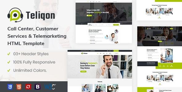 Teliqon - Call Center & Telemarketing HTML Template - Corporate Site Templates