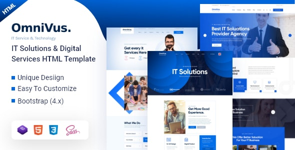 Omnivus - IT Solutions & Digital Services HTML5 Template - Business Corporate