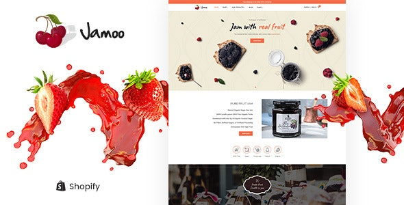 Jamoo - Organic Fruits Jam Store Shopify Theme - Health & Beauty Shopify