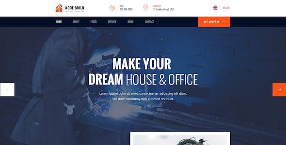 Kodebuild -  Industrial PSD Template
