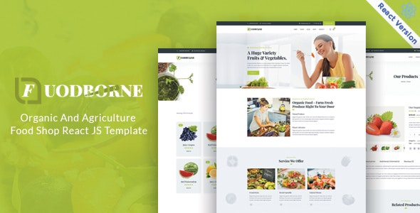 Fuodborne - Organic & Agriculture Food Shop React JS Template - Food Retail