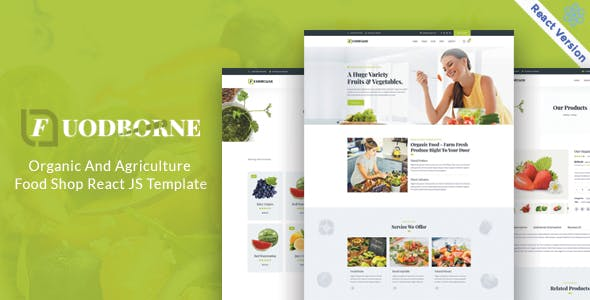 Download Fuodborne - Organic & Agriculture Food Shop React JS Template