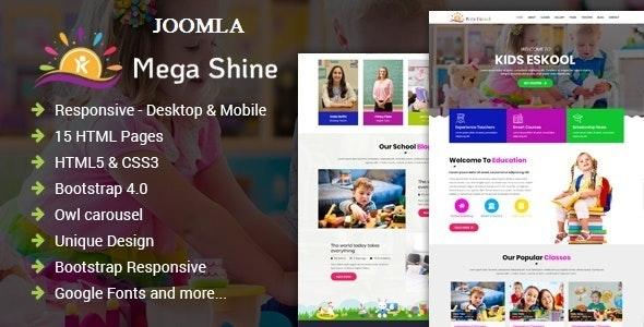 MegaShine- Education Primary School Joomla Template - Business Corporate