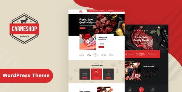 CarneShop - Butcher & Meat Shop WordPress Theme + RTL - Food Retail