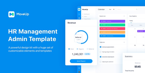 MoveUp - HR Management Admin Template for Adobe XD - Adobe XD UI Templates