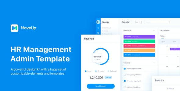 MoveUp - HR Management Admin Template for Figma