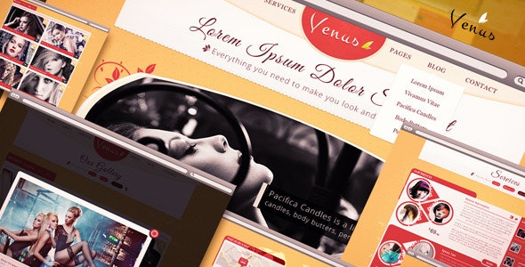 Venus - Beauty Center PSD Template - Health & Beauty Retail