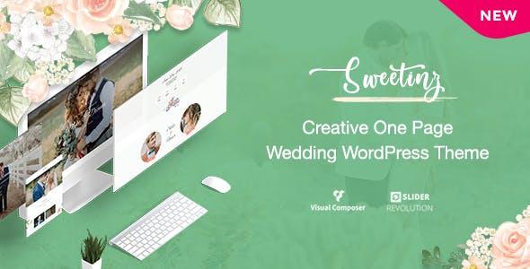 Download Sweetinz - Creative OnePage Wedding WordPress Theme