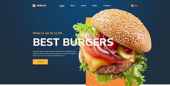 Burgos – Street Food Template for XD
