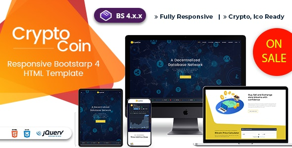 Cryptoico - ICO Bitcoin & Cryptocurrency HTML Template - Business Corporate