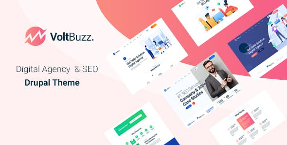 Download VoltBuzz - SEO & Marketing Agency Drupal 9 Theme
