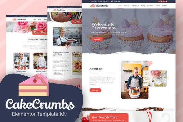 Cakecrumbs - Bakery Elementor Template kit - Food & Drink Elementor