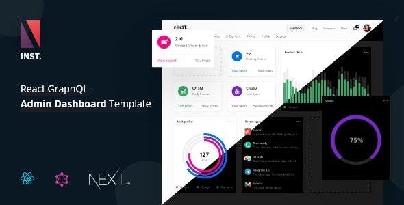 Inst - React Admin Template with GraphQL - Admin Templates Site Templates