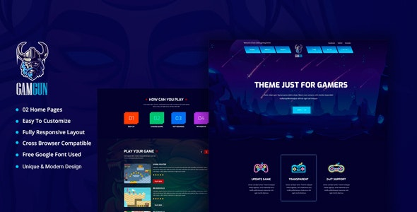 Gamgun - Online Gaming HTML Template - Business Corporate