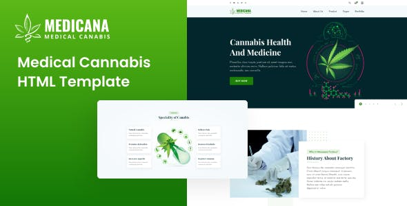 Download Medicana - Medical Cannabis HTML Template