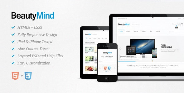 BeautyMind - Responsive HTML5 Template - Creative Site Templates