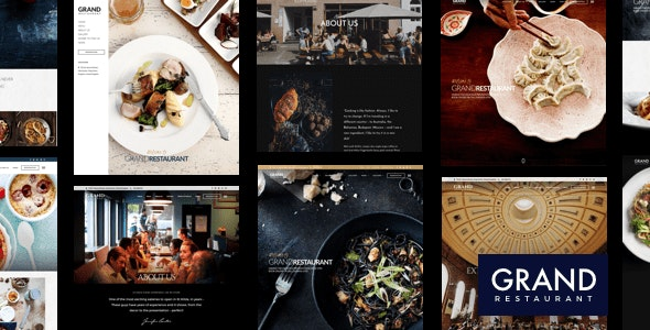 Grand Restaurant WordPress - Restaurants & Cafes Entertainment