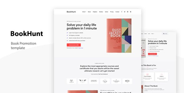 Download Bookhunt - Book Landing Template