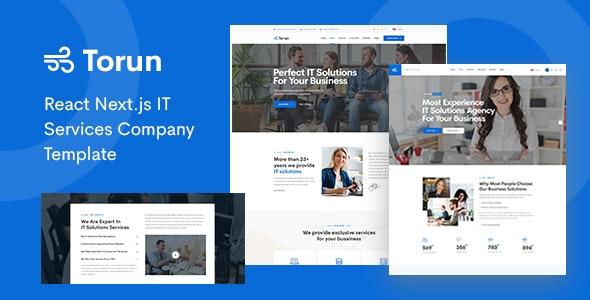 Torun - React Next.js IT Services Company Template - Business Corporate