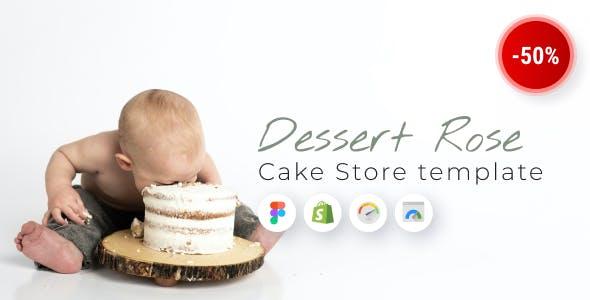 Dessert Rose - Responsive Cake Shop Shopify Theme