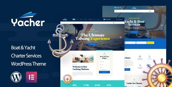 Yacher - Yacht Charter Services WordPress Theme - Business Corporate
