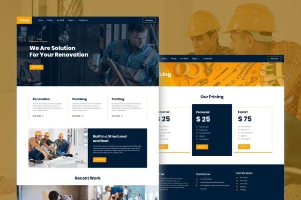 Trotol - Renovation Elementor Template Kit - Real Estate & Construction Elementor