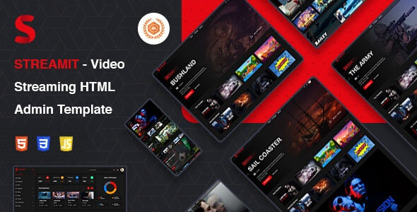 Streamit | Video Streaming VueJS, HTML Admin Template - Film & TV Entertainment