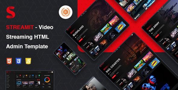 Streamit   Video Streaming VueJS, HTML Admin Template - Film & TV Entertainment