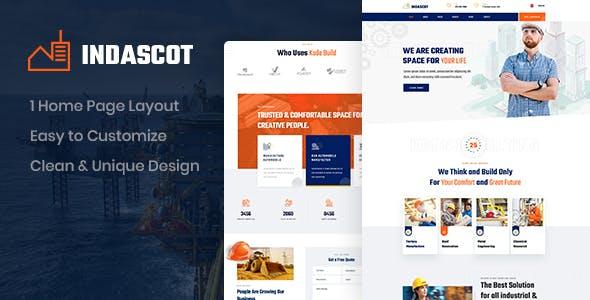Indascot - Industrial PSD Template