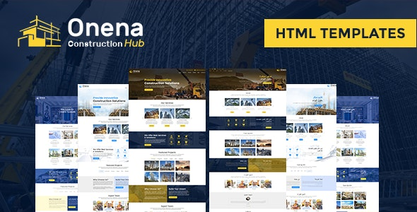 Onena Construction Hub HTML Template - Business Corporate
