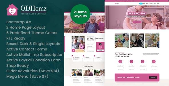 Odhomz - Senior Care HTML