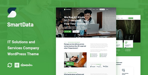 Smartdata - IT Solutions & Services WordPress Theme - Business Corporate
