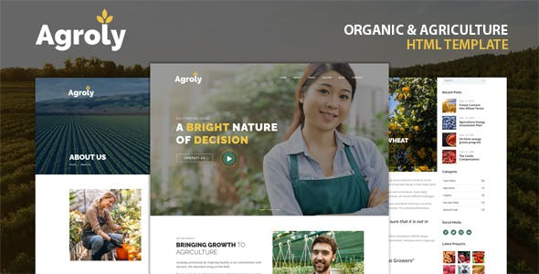 Download Agroly - Organic & Agriculture Food HTML Template