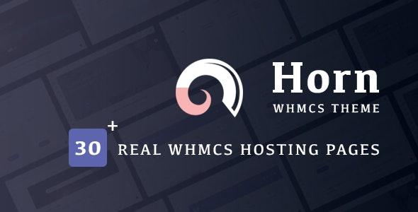 Horn - WHMCS Dashboard Hosting Theme - Hosting Technology