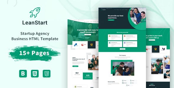 Download LeanStart - Startup Agency Business HTML Template