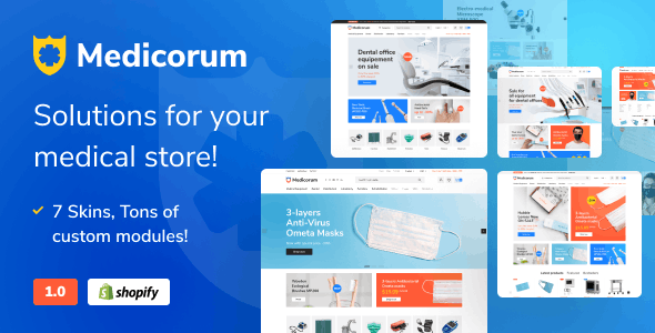 Medicorum - Shopify Template for Medical Stores