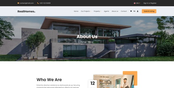 ReallHomes - Real Estate & Property Agency Html Template