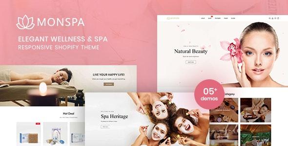 Monspa -  Elegant Wellness And Spa Responsive Shopify Theme - Shopify eCommerce