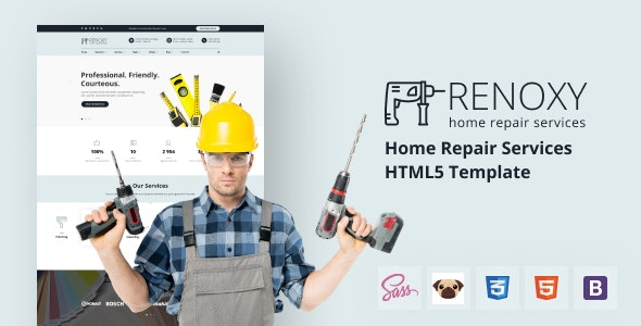 Renoxy - Home Repair Services HTML5 Template - Business Corporate