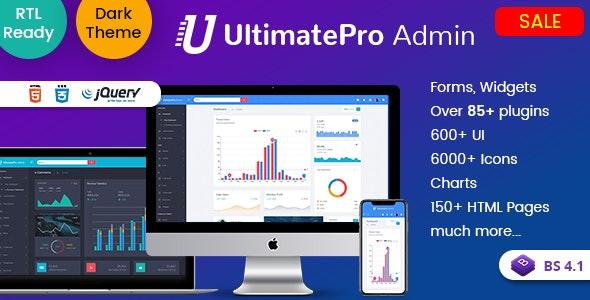 UltimatePro - Bootstrap 4 Admin Dashboard Templates and WebApps - Admin Templates Site Templates