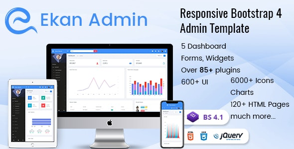 Ekan - Responsive Bootstrap Admin Templates with UI Framework - Admin Templates Site Templates