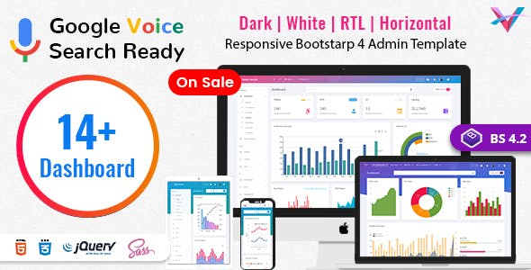 VoiceX - Bootstrap Admin Dashboard Template