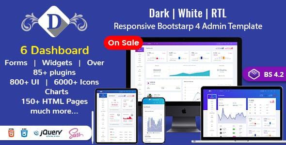 DashboardX Bootstrap 4 Admin Template