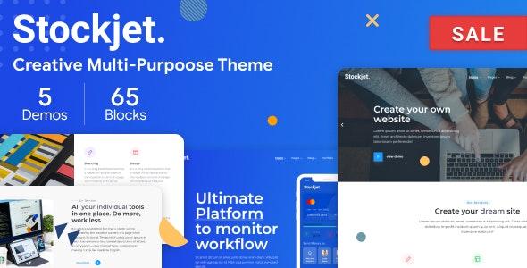 Stockjet — Creative Agency, Corporate and Portfolio Multi-purpose Template - Site Templates