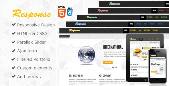 Response - Responsive Html5 Template - Corporate Site Templates